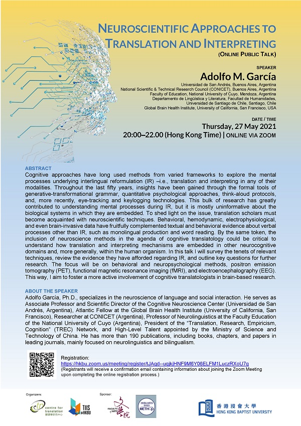 (Arts Does Method) Online Public Lecture Neuroscientific Approaches to Translation and Interpreting